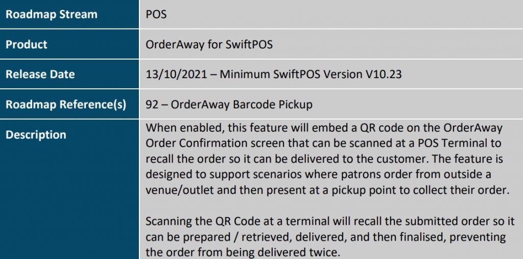 OrderAway Barcode Pickup